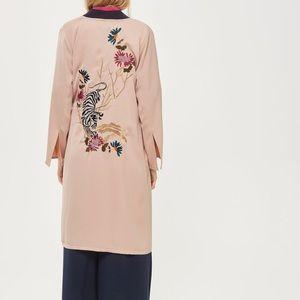TOPSHOP kimono duster NWT SIZE 6 tiger floral